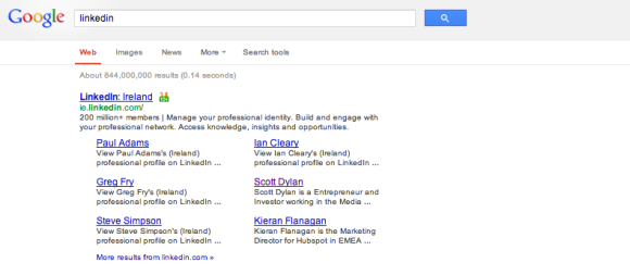 Google Linkedin Search Results